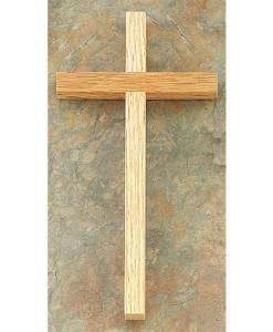 Oak Wood 8 inch Cross
