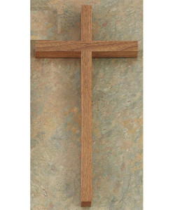 Walnut Wood 12 inch Cross