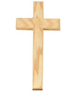 Oak Wood 10 inch Cross