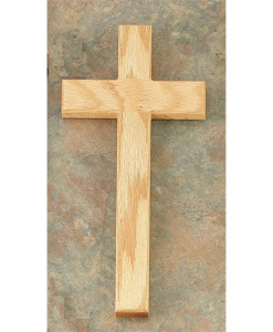 Oak Wood 12 inch Cross