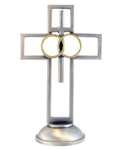 Wedding 4 inch Pewter Cross