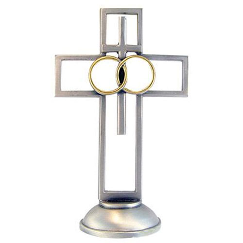 Wedding 4 inch Pewter Cross