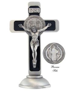 St. Benedict 4 inch Pewter Crucifix