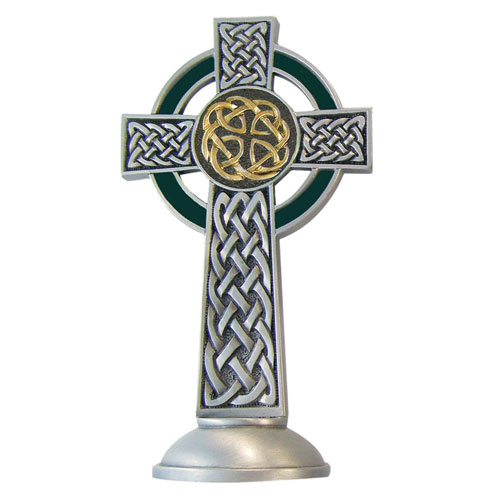 Celtic Knotted 4 inch Pewter Cross