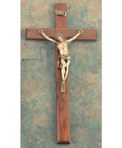 Walnut Wood 27 inch Crucifix