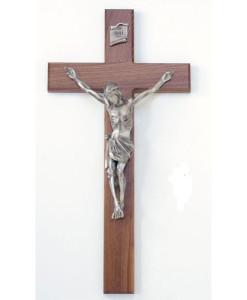 Walnut Wood 34 inch Crucifix