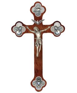 Trinity Budded 12 inch Crucifix