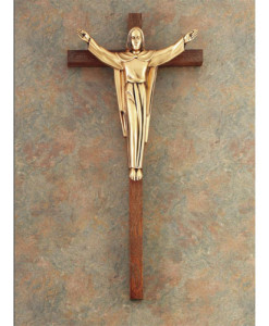 Dark Oak Wood 34 inch Crucifix
