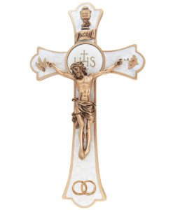 Wedding Holy Mass 8 inch Crucifix