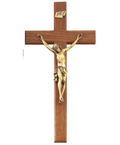 Walnut Wood 20 inch Crucifix