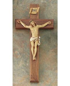 Walnut Wood 12 inch Crucifix