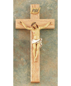 Oak Wood 12 inch Crucifix