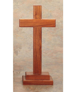 Walnut Wood 13 inch Cross
