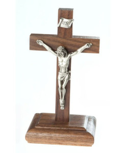 Walnut Wood 6 inch Crucifix
