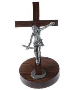 Walnut Wood Gift Of The Spirit 8 inch Crucifix