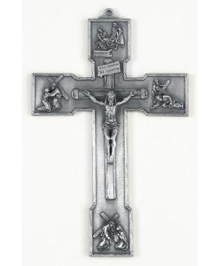 Passion 6 inch Pewter Wall Crucifix