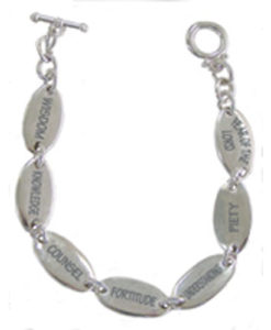 Bracelet Inspirational Words Silver Finish