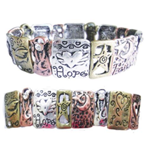 Bracelet Inspirational message Love, Faith, Hope