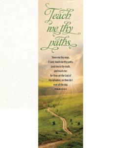 Teach Me Thy Paths Psalm 25:4-5 Bookmark