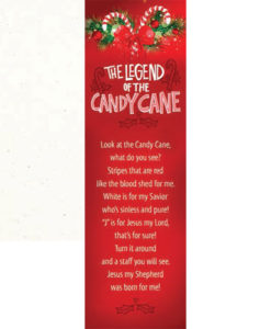 Legend Of The Candy Cane Bookmark