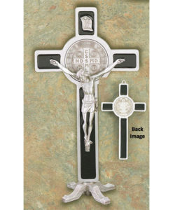 St. Benedict 9 inch Standing Crucifix