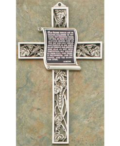Prayer Our Father Wall Cross 9 inch