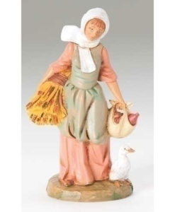 "Farmer Hannah Villager Figure for Fontanini® 5"" Nativity Collection"