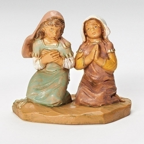 "Praying Girls Junia and Eve Figure for Fontanini® 5"" Nativity Collection"