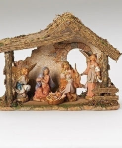 "5 Piece Figure Set with Stable Fontanini® 5"" Nativity Collection"