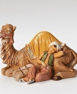 "Cyrus the Boy with Camel Figure for Fontanini® 5"" Nativity Collection"