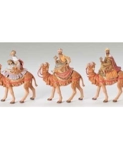 "Fontanini® 5"" Collection Three Kings on Camels 3 pc set"