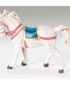"White Horse with Saddle Blanket for Fontanini® 5"" Nativity Collection"