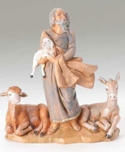 "Nathaniel with Animals Figure for Fontanini® 5"" Nativity Collection"