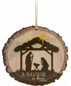 Barky Ornament A Savior is Born