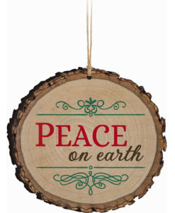 Barky Ornament Peace On Earth