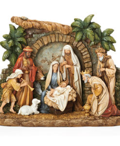 Nativity Shadow Box with Animals and Façade