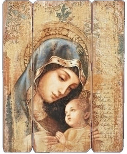 Madonna and Child Decorative Panel