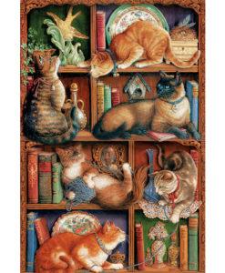 Feline Bookcase | 2,000 Piece Puzzle