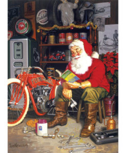 Santa's Flying Merkel   1,000 Piece Puzzle