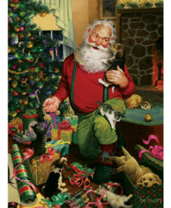 Santa's Cats and Dogs   500 Piece Puzzle