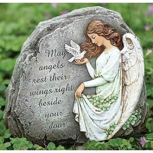 Celtic Angel Verse Stone