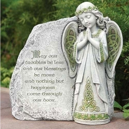 Irish Angel Garden Stone