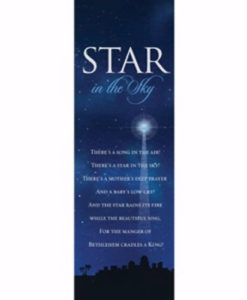 Bookmark Star In The Sky Christmas 2017