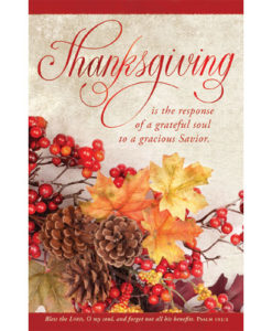 Thanksgiving Is The Response Thanksgiving 2017 | Regular Size Bulletin Package of 100