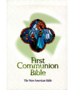 NAB - First Communion Bible | White Imitation Leather