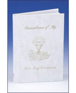 Remembrance of My First Holy Communion | Girl White Padded Cover with White Edges