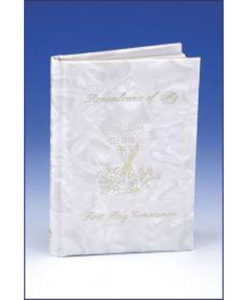 Remembrance of My First Holy Communion | Girl White Padded Pearlized Cover