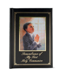 Remembrance of My First Holy Communion | Boy Black Padded Cover
