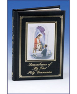 Remembrance of My First Holy Communion Traditions | Boy Black Padded Cover