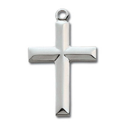 Silver Plated Cross | 18 inch Necklace
